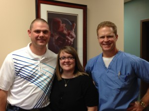 Jonathan and Becky with Dr. Keenan